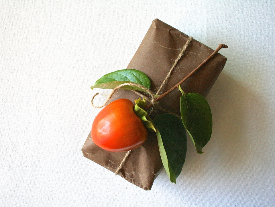 persimmon bread packaging, hostess gift
