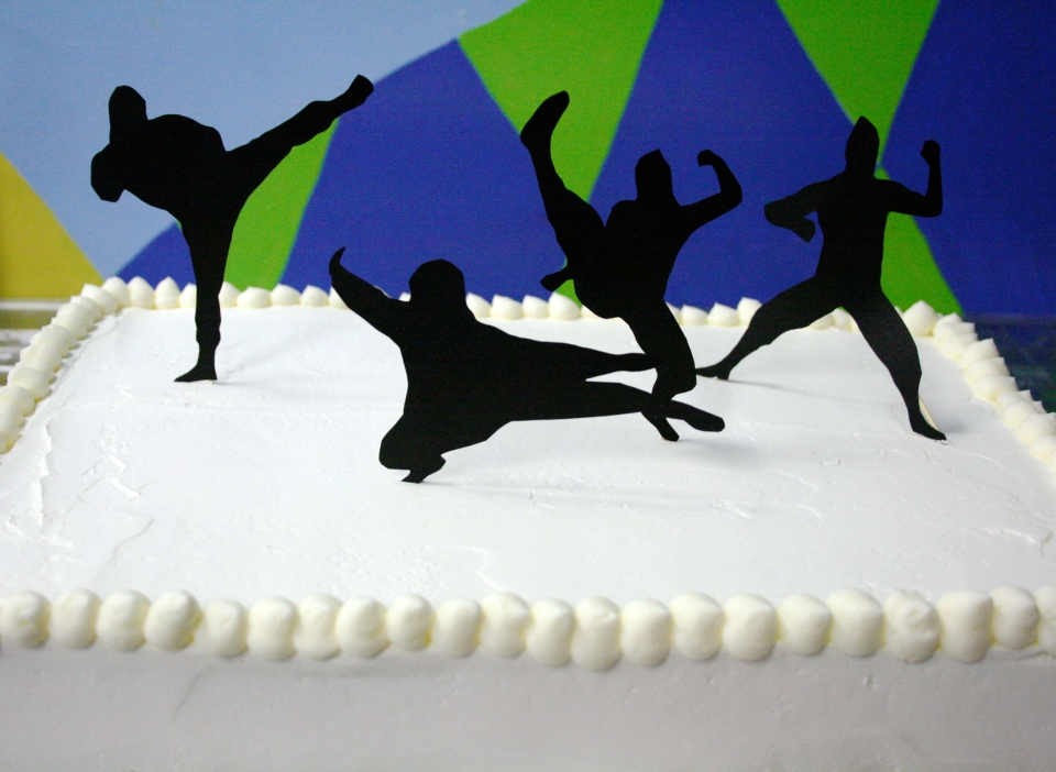 ninja party birthday cake