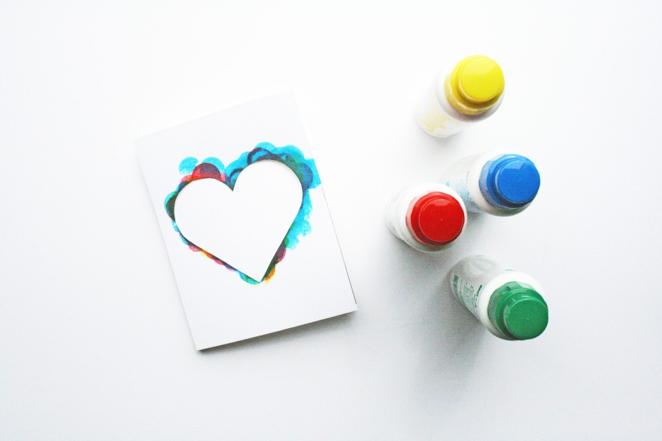 mothers day heart card how to