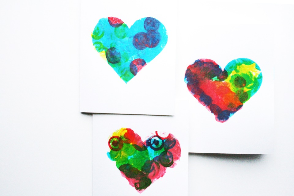 mother's day heart cards
