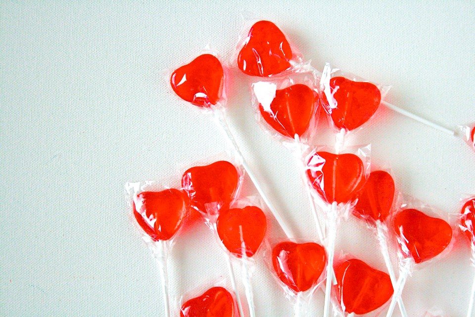 hearts lollipop
